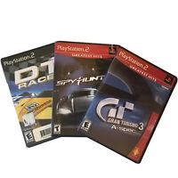 PS2 Car Racing Bundle: Gran Turismo 3, Spy Hunter & DT Racer Playstation 2 CIB