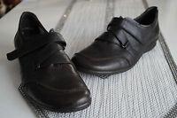 ARA Damen Schuhe Slipper Leder leicht mit Einlagen Klett braun Gr.41 / 7,5 G NEU