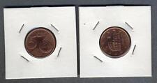 ITALIA 5 Euro cent 2002 errore di conio rovescio ruotato a 90°