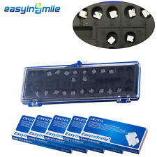 5packs EASYINSMILE Crystal Orthodontic Bracket Dental Brackets Roth 022 3w/hook