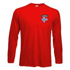Magliette da uomo rossi manica lunghi marca Fruit of the Loom