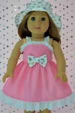 """Doll Clothes For 18"""" American Girl~Our Generation~Journey DRESS~PATTERNED HAT"""