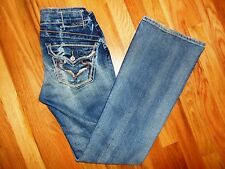 Womens Junior Big Star Jeans Size 26R Casey K Low Rise BKE Buckle Size 26 x 31