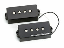 Seymour Duncan SPB-2 Basslines Hot 4-String P-Bass Dual Pickup Set, Black