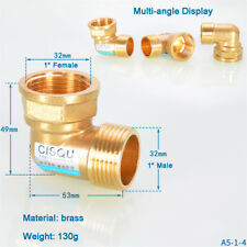 """BSP 1"""" Female to 1"""" Male Brass 90 degree Elbow Connector Adapter Pipe Fittings"""