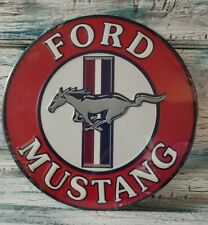 FORD MUSTANG CAR EMBOSSED METAL SIGN MAN CAVE LICENSED WALL ART NEW COLLECTIBLE