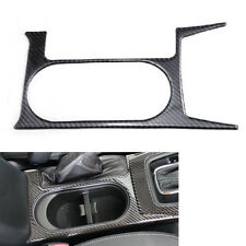 Car Interior Carbon Fiber Water Cup Holder Cover Trim for Forester 2013 14 15