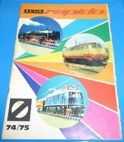 Arnold rapido 1974 1975 mit Preisliste Neuheiten / Katalog