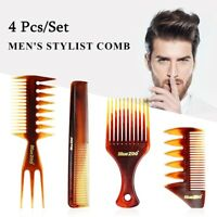 Hairdressing  Tool Beard Styling Wide Teeth Hair Brush Barber Shop Fork Comb