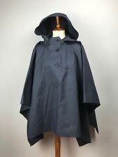 Mackintosh Women's Poncho Jacket Hooded Blue Oversized Hand Made Luxury