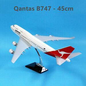 Fly Kangaroo Qantas Boeing 747 Aircraft Plane Model 45cm Fiberglass Solid Resin