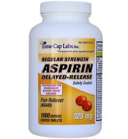 Generic Ecotrin Adult Regular Strength Enteric Coated 325mg Aspirin 1000 Tablets