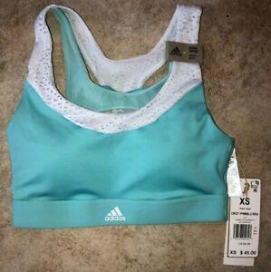 Womens Adidas Dont Rest Primeblue Medium Support Sports Bra Blue Sz XS