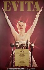 """EVITA ORIGINAL BROADWAY WINDOW CARD POSTER 22"""" X 14"""" PATTI LAPONE MINT"""