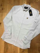 Brand new   Lyle & Scott slim fit oxford shirt in light silver  medium