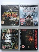 PS3 Game Bundle -Need For Speed The Run+Metal Gear Solid 4+GTA 4+More -(960)