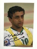 Autogramm MOHAMMAD AL-SHALHOUB-Nationalteam SAUDI-ARABIEN-handsigniert-RAR!!!!