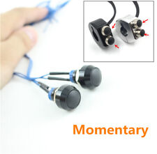 2x Black CNC Mini Push Button Motorcycle Start Kill Horn Switch Momentary Reset