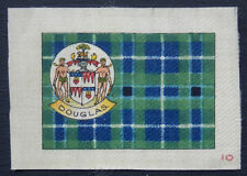 Douglas Clan Tartan and Coat of Arms Silk card issued in 1922