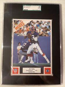 JIM KELLY 1987 Wheaties paper poster  5 X 7  Buffalo Bills SGC 8 NM-MT RC HOF