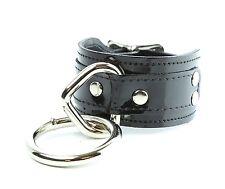 Cyber Goth Bondage Wristband Patent Leather Punk Deathrock
