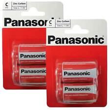 4 x Panasonic R14RZ-2BP C Size Batteries New