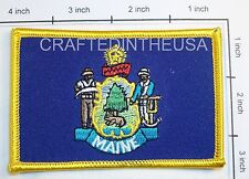 Maine State Flag Embroidered Patch Sew Iron On Biker Vest Applique Emblem New