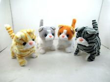 Walking, Moving, Sounding, Tail Curling Plush Baby Toy Mini Cat Random Color