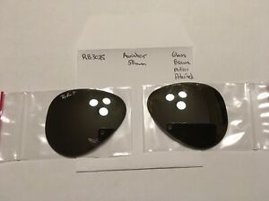 Authentic Lenses - Rayban RB 3025 Aviator 55 mm - Glass Polarized Silver Mirror
