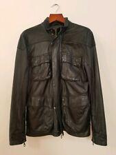 Lot78 Black Leather Moto Jacket Size 48 (Medium)