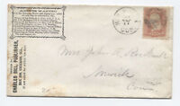 1860s New Haven CT fancy negative 6 point star of david #65 cover [y3276]