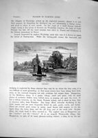 Original Old Antique Print *3441 View Shepperton Boat River Thames 1885 Cassell