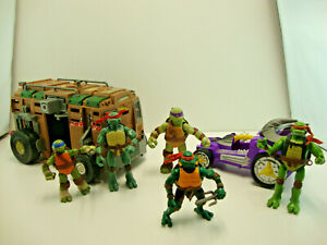 TMNT Lot - 28 Figures & 2 Vehicles