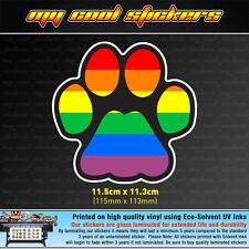 Gay Pride Rainbow Paw LGBT Vinyl Sticker Decal for car, ute, 4x4 - cat dog pet