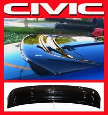 JDM 2003 Civic EM 2 Door Coupe Rear Roof Window Visor w/ Stability Brackets EM2