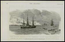 1889  Antique Print - MALTA HMS SULTAN ESCORT TEMERAIRE REPAIR PORTSMOUTH (054)