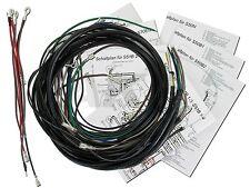 Kabelbaumset, Basisausstattung mit Schaltplan - für Simson S50, S51, S70 für Sim
