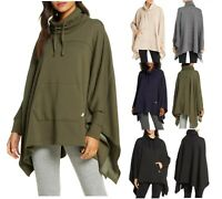 Authentic UGG Women Charlynne Poncho Double Knit Fleece Sweater Top Cape NEW