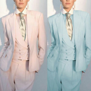 Women Ladies Custom Made Office Business Tuxedos Work Wear Formal 3 Pieces Suits