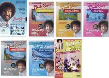 BOB ROSS komplette Edition 11Std WORKSHOP Landschaften BLUMEN 7 DVD Sammlung NEU