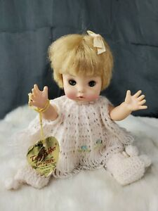 Vintage Effanbee Knit White Doll Sweater Baby tagged