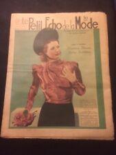 Le petit ECHO de la MODE du 6 /03/1938 n°10  chapeaux,blouses , robes habillées