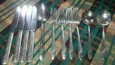 New ListingVtg Oneida Queen Bess Dinner Forks Spoons Knives Tudor Silverplate Flatware set