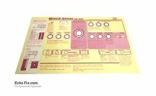 RE-201 Space Echo Lid Instruction Card (English Reprint)