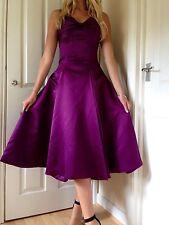 Vintage Designer demoiselle d'honneur cocktail robe de bal robe de soirée Taille 10 - 12 Violet