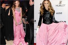 Oscar De La Renta Pink Dress Seen On Sarah Jessica Parker ....