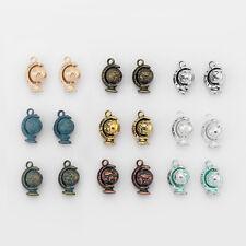 New 5/10pcs Rotatable Tellurion Globe World Map Beads Charms Pendants