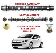 FOR FIAT PUNTO + EVO + VAN 1.3 D JTD 2003 >ON ENGINE INLET & EXHAUST CAMSHAFT