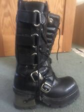 Vintage New Rock Boots Goth / Biker Worn Once Size 40 (uk 7)