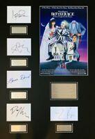 BEETLEJUICE Tim Burton Film hand signed mounted frame